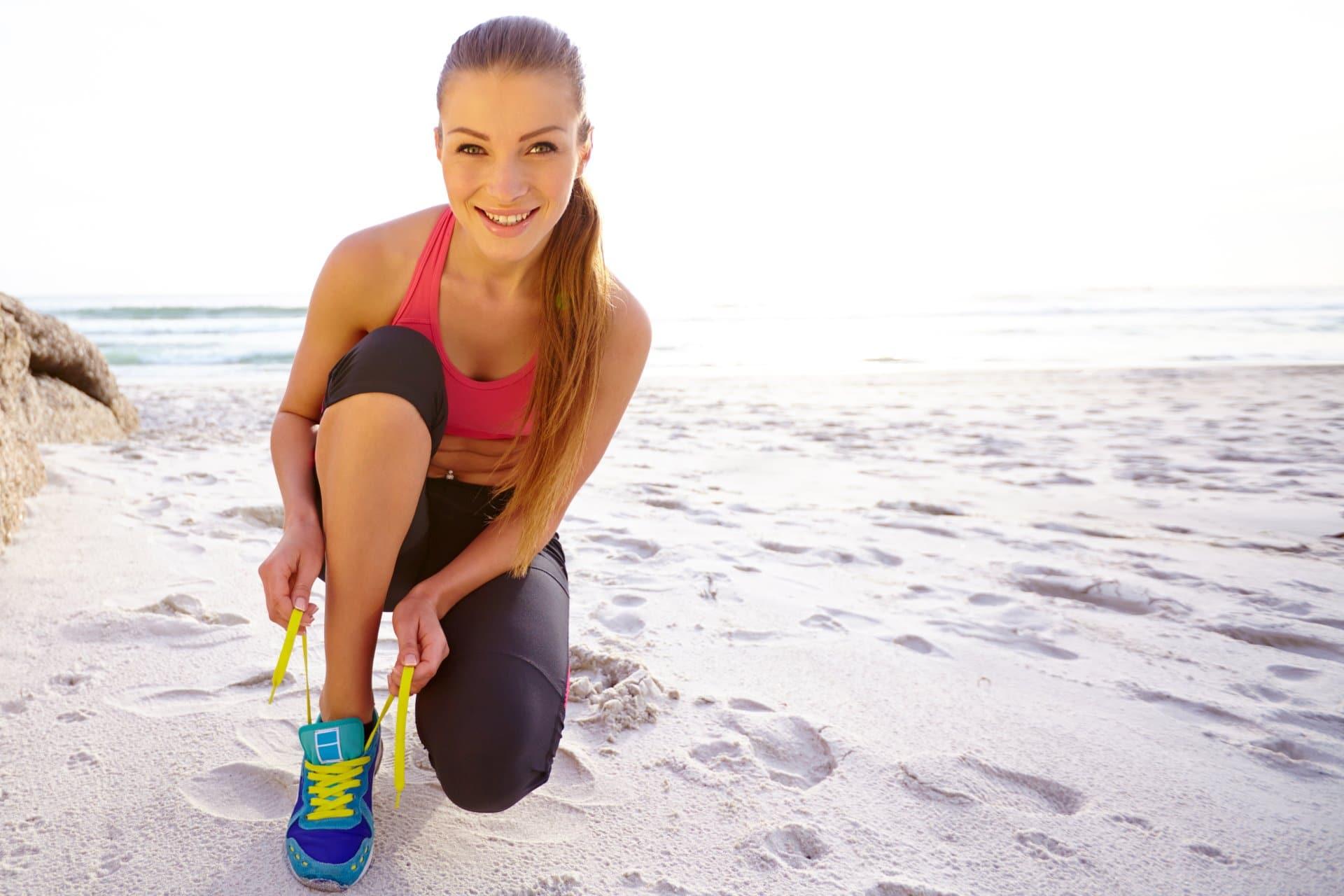 Frau Strand Jogging erfolgscoaching